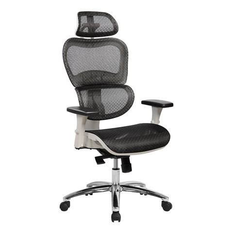 Office Chairs Neck Support by Techni Mobili Deluxe High Back Mesh Executive Office Chair
