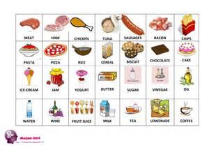 flash cards il cibo food