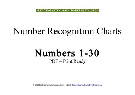 worksheets number worksheets for kindergarten 1 30