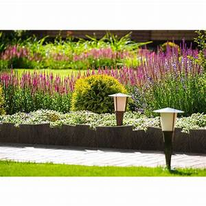 Bordure De Jardin Land Art En PP Imitation Bois 20 X 60