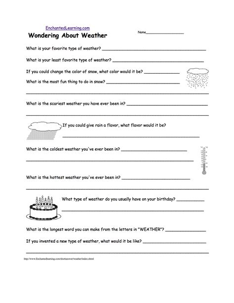 5th grade science worksheets weather homeshealth info