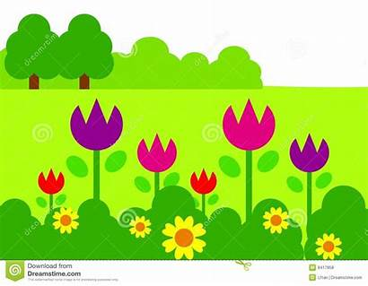 Garden Clipart Clip Flower Background Gardening Borders