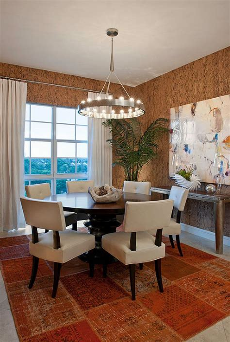 Dining Room Modern And Unique 27 Splendid Wallpaper Decorating Ideas For The Dining Room