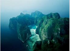 Aerial of Koh Phi Phi Ley From the Thai Airways 2008
