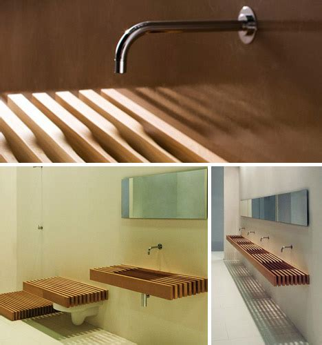 stealth bathroom wood shelves hide secret toilets sinks
