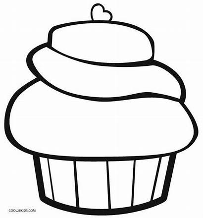 Cupcake Coloring Pages Cool2bkids Printable Birthday Ice