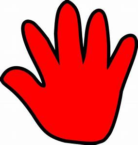 Child Handprint Red Clip Art at Clker.com - vector clip ...