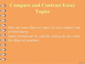compare and contrast 2 objects