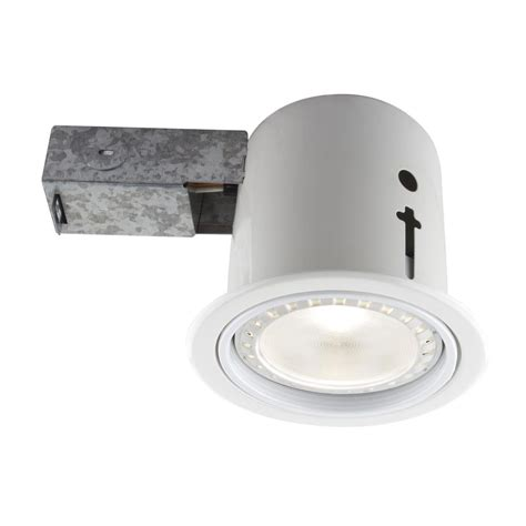 bazz 3 85 in white recessed led lighting fixture 4 pack