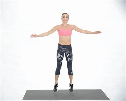 Exercise Routine Star Jumps Warm Exercises Step