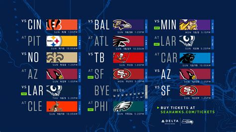 seattle seahawks  schedule introduced consists