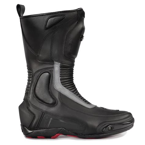 road motorbike boots spyke road runner wp waterproof motorcycle boots touring