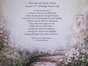 25th wedding annivesary personalized poem by deespersonalized for 25th wedding anniversary poems