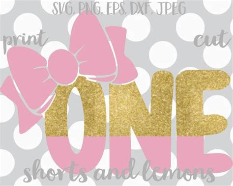 I got to celebrate this sweet boy's 10th birthday! Bow svg First Birthday svg pink and gold first birthday ...