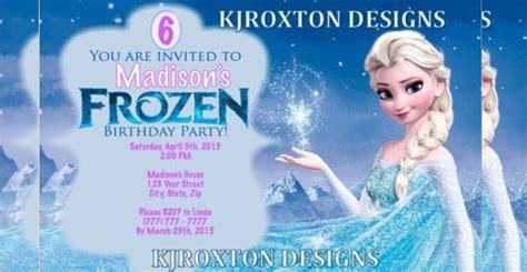 frozen birthday invitation templates psd ai vector