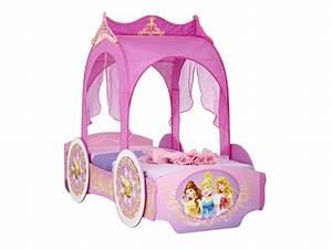 Lit Princesse Fille : lit carrosse 90x190 cm disney princesses vente de lit enfant conforama ~ Teatrodelosmanantiales.com Idées de Décoration