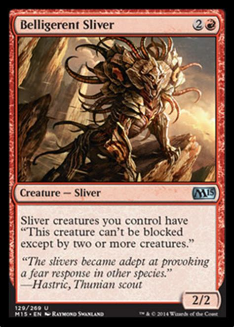 mtg sliver deck m15 ripleys return slivers standard mtg deck