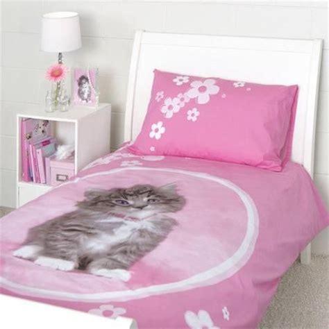 rachael hale  sweet kitten duvet single bed set evies