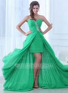 a line princess sweetheart asymmetrical chiffon evening With robe de cocktail combiné avec hipanema turquoise