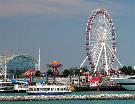 Boat Rides At Navy Pier by Chicago Navy Pier