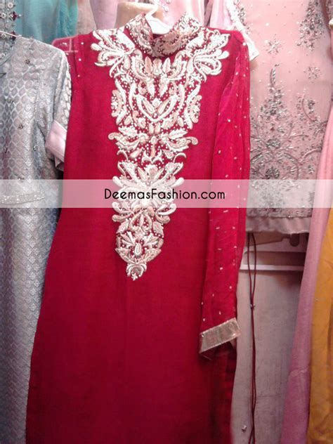 red silver white party wear dress latest designer