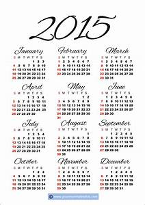2020 Yearly Calendar Template Word 2015 Calendar Templates Images