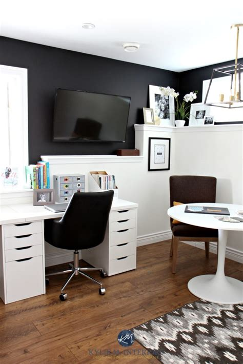 kylie  interiors home office  sherwin tricorn black