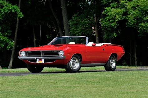 plymouth cuda convertible muscle car amazing