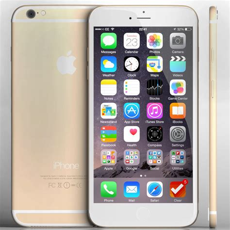 iphone 6 models apple iphone 6 and 6 plus all color 3d model max