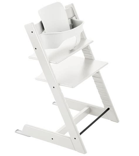 stokke tripp trapp high chair baby set white