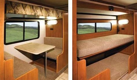 Camper+homemade+bunkbeds+on+top+of+table