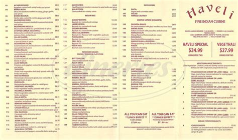 menu cuisine haveli indian cuisine menu tustin dineries