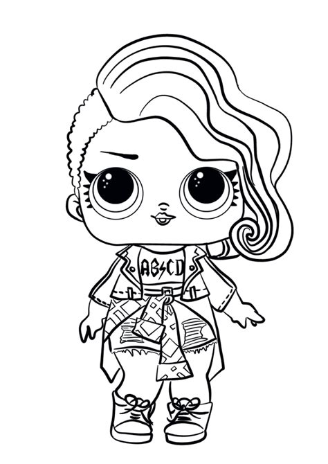 lol doll coloring pages rocker lol