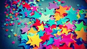 Cute Colorful Stars Artwork #Wallpaper - HD Wallpapers