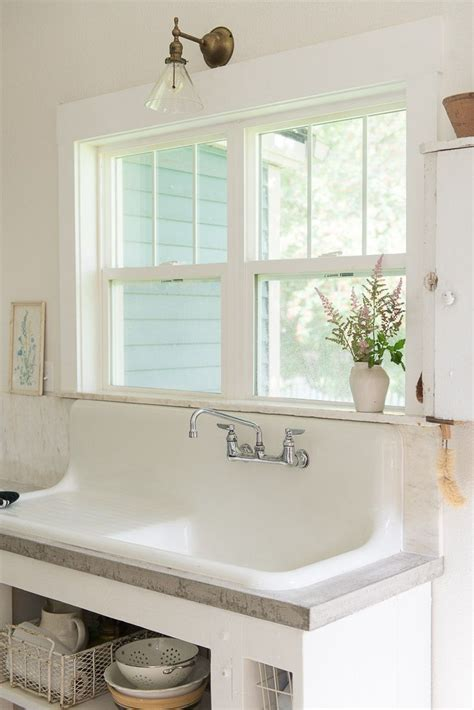 vintage farmhouse sink ideas  pinterest
