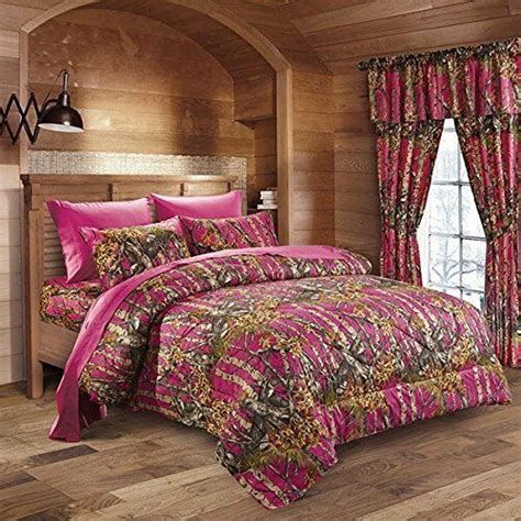 Pink Camouflage Bedding by 7 Pc Pink Fuchsia Camo Comforter And Sheet Set