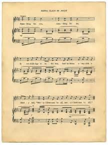 Printable Vintage Christmas Sheet Music