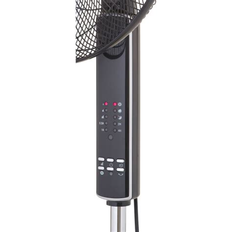 remote control pedestal fan 16 quot inch black oscillating pedestal fan with remote