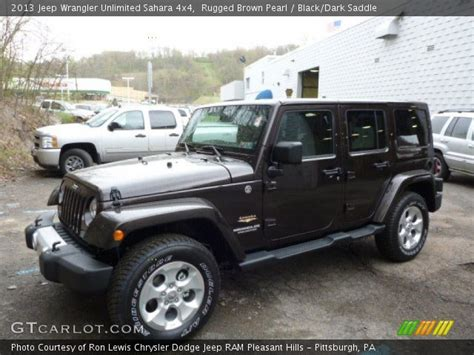 dark brown jeep rugged brown pearl 2013 jeep wrangler unlimited sahara