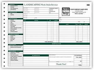 8 best images of printable landscape estimate forms lawn With printable work order invoice