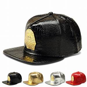 ⊱Vogue PU Leather ᐊ Pharaoh Pharaoh Copper Baseball Caps ...