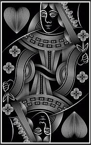 Black And White Queen Of Hearts Card Pictures to Pin on ...