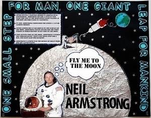 Make A Poster About Neil Armstrong Landing A Man On The