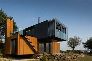 Shipping, Container, Home, Acts, Like, A, Sculpture, In, The, Irish, Land