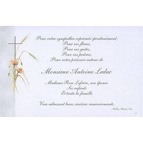carte remerciement d 233 c 232 s deuil condol 233 ances obs 232 ques - Modele Carte Remerciement Deces