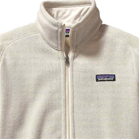 patagonia womens  sweater fleece jacket raw linen cleanline surf
