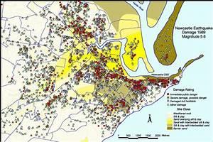 Surveyed Newcastle Earthquake Damage