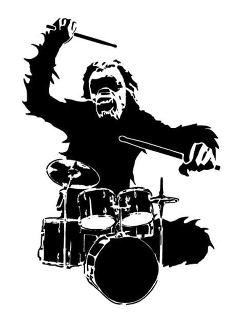 Chimpanzees and drums design vector free download
