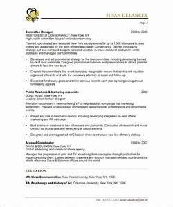 event planner page2 non profit resume samples With event planner resume