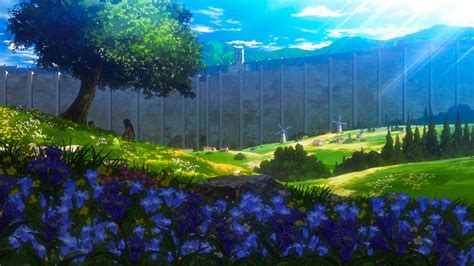 that scenery titanfolk in 2021 anime background